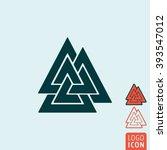 valknut icon. valknut symbol....