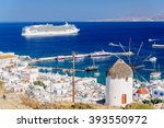 View Above Mykonos Town With A...