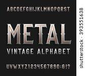 vintage style alphabet font.... | Shutterstock .eps vector #393551638