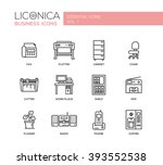 set of modern vector office... | Shutterstock .eps vector #393552538