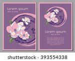 abstract floral background for... | Shutterstock .eps vector #393554338