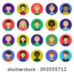 avatars. children.girls and... | Shutterstock .eps vector #393555712