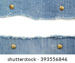 Blue Jean Isolated On White...