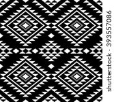 seamless pattern with ethnic... | Shutterstock .eps vector #393557086