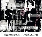vintage fashion background.... | Shutterstock .eps vector #393565078