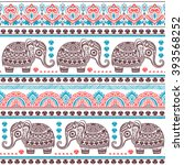 vintage graphic vector indian... | Shutterstock .eps vector #393568252
