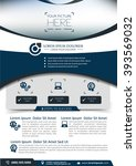 vector brochure  flyer ... | Shutterstock .eps vector #393569032