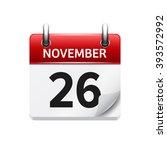 november 26 . vector flat daily ...