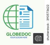 vector of globe symbol or icon | Shutterstock .eps vector #393573622