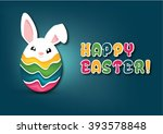 easter bunny template | Shutterstock .eps vector #393578848