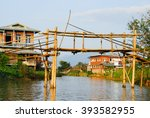 Bamboo Bridge In Lake Village