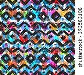 seamless geometric pattern in... | Shutterstock .eps vector #393583108