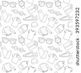 seamless patterns of male... | Shutterstock .eps vector #393597232