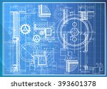 abstract technical background   ... | Shutterstock . vector #393601378