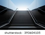 Empty Black Stairs In...