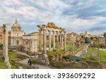 Dramatic Sky Above Roman Forum...