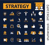 strategy icons  | Shutterstock .eps vector #393611692