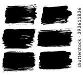 black painted labels set... | Shutterstock .eps vector #393611836