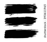 brush strokes set. paintbrush... | Shutterstock .eps vector #393611965