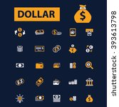 dollar icons  | Shutterstock .eps vector #393613798