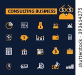 consulting business icons  | Shutterstock .eps vector #393614275