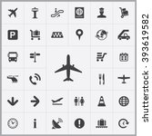 simple airport icons set.... | Shutterstock .eps vector #393619582