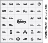 simple car icons set. universal ...