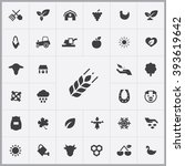 simple agriculture icons set....
