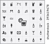 simple bar icons set. universal ... | Shutterstock .eps vector #393619678