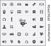 simple cinema icons set....
