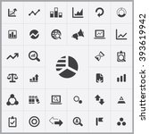simple analytics icons set.... | Shutterstock .eps vector #393619942