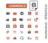 commerce icons  | Shutterstock .eps vector #393624112