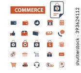 commerce icons  | Shutterstock .eps vector #393624112