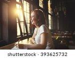 online communication technology ... | Shutterstock . vector #393625732