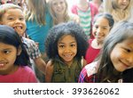 school children cheerful... | Shutterstock . vector #393626062