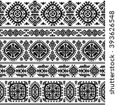 vector tribal mexican vintage... | Shutterstock .eps vector #393626548