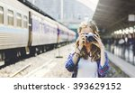 girl adventure hangout... | Shutterstock . vector #393629152