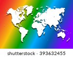 vector world map illustration... | Shutterstock .eps vector #393632455