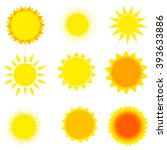 sun icon set. abstract and... | Shutterstock .eps vector #393633886