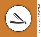 retro razor icon. flat design... | Shutterstock .eps vector #393637762