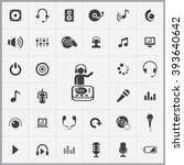simple dj icons set. universal...