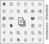 simple document icons set.... | Shutterstock .eps vector #393640645