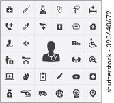 simple doctor icons set.... | Shutterstock .eps vector #393640672