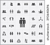 simple friendship icons set.... | Shutterstock .eps vector #393640696