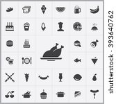 simple food icons set.... | Shutterstock .eps vector #393640762