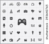 simple entertainment icons set. ... | Shutterstock .eps vector #393640765