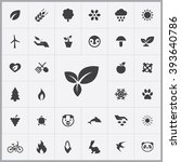 simple ecology icons set....