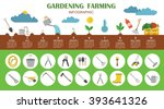gardening work  farming... | Shutterstock .eps vector #393641326