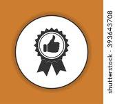 vector medallion icon. flat... | Shutterstock .eps vector #393643708