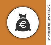 money bag icon. vector...